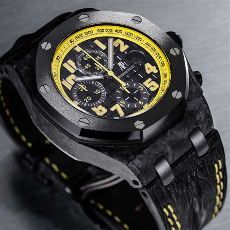 Ap Royal Oak Shore Bumble Be Forget Best Clonning future collectibles the audemars piguet end of days and bumblebee royal oak offshores revolution