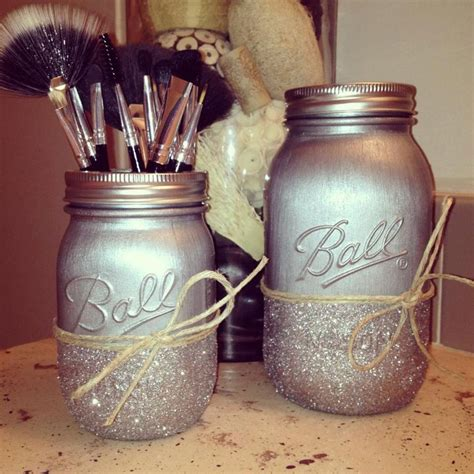 painted mason jars housewares home decor nursery decor