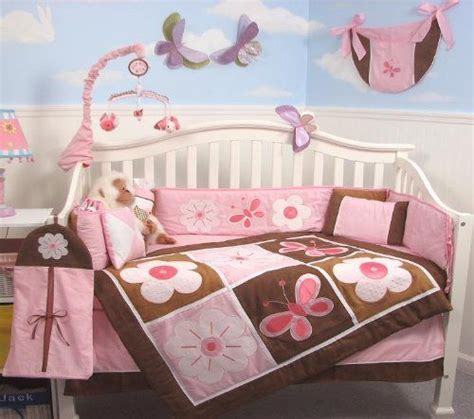 Pink And Brown Butterfly Crib Bedding 31 Best Images About Baby Bedding On Pinterest Baby Crib Bedding Nursery Bedding And