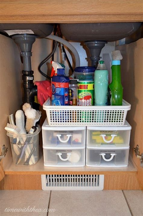 affordable kitchen storage ideas inexpensive storage ideas to make the most of a kitchen sink cabinet hometalk