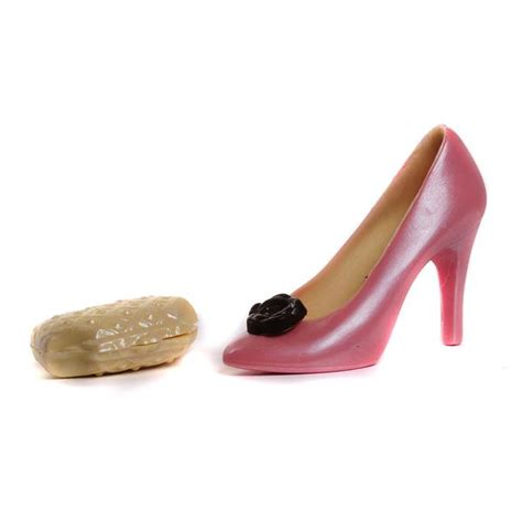 Chocolate And Shoes Be Still My by Chocolate Shoe And Purse Set Pink Strawberry Flavoured