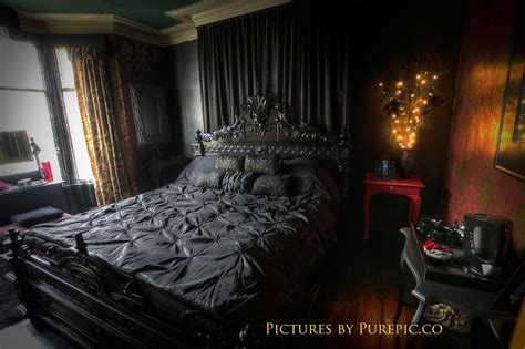 gothic bedroom stripy tights and dark delights gothic guest houses