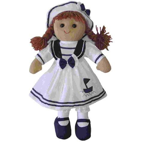 rag dolls rag dolls rag doll with sailor dress and hat 163 11 99
