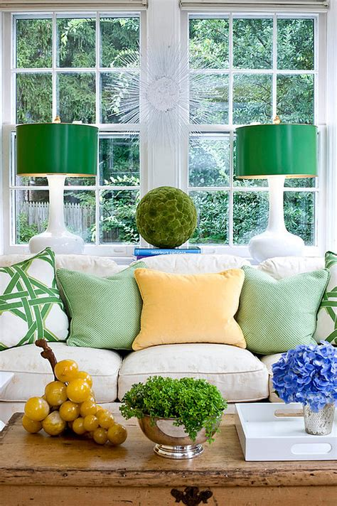 green home decor bringing spring time colors into your winter home