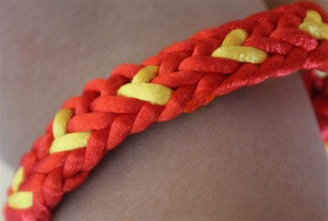 Pulsera con corazones. BFF kumihimo flat bracelet   YouTube