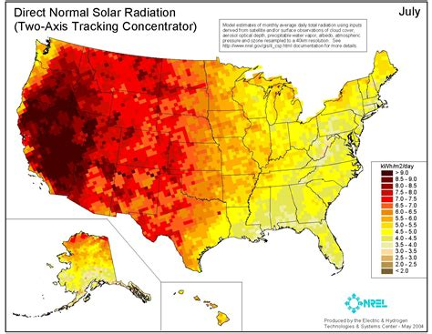 solar radiation map usa meteorology how can daily brightness be quantified or