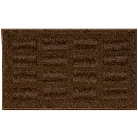 Nourison Grid Kitchen Rug Buy Nourison Grid 1 Foot 10 Inch X 4 Foot 6 Inch Kitchen Rug In Brown From Bed Bath Beyond