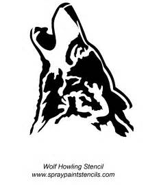 Wolf template howling wolf stencil large minecraft tamed wolf