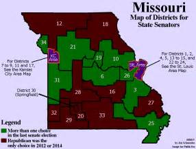 senate districts map rotten districts in missouri