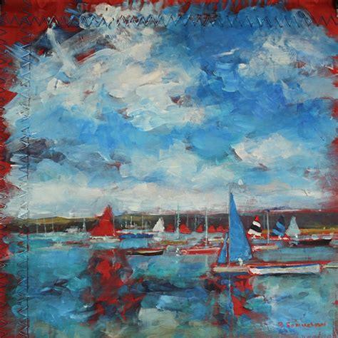 acrylic painting holidays uk becky samuelson arts acrylic paintings harbour