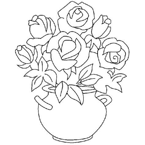 imagenes en blanco para colorear de flores dibujos de rosas para colorear y pintar