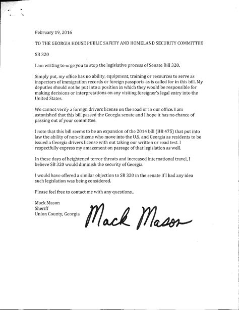 Official Letter On Road Safety The Dustin Inman Society 187 Sb 320 Letter To House Safety Committee From
