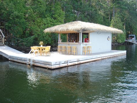 tiki hut boat for sale steel tube floating commercial dock systems r j machine