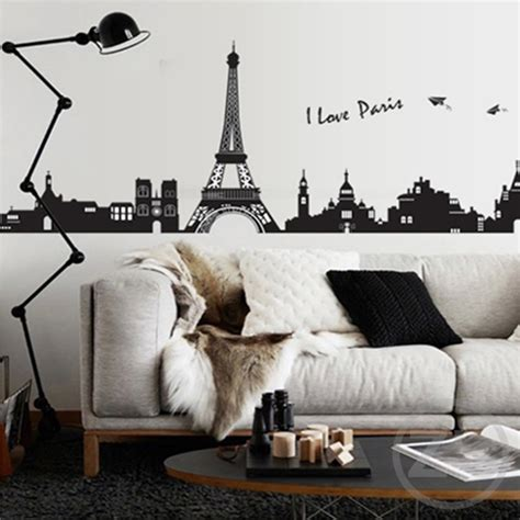 home decor france i love paris wall sticker eiffel tower home decor black