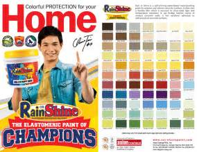 rain or shine color chart price list update