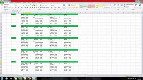 powerlifting training program excel