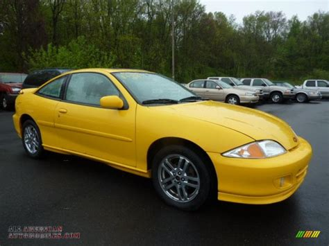 2002 chevrolet cavalier ls sport coupe in yellow 422873