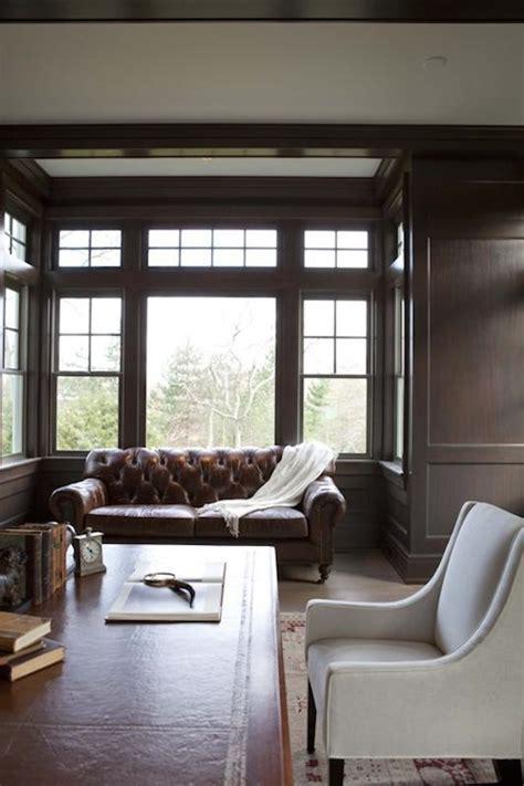 Wood Paneled Den Design Ideas