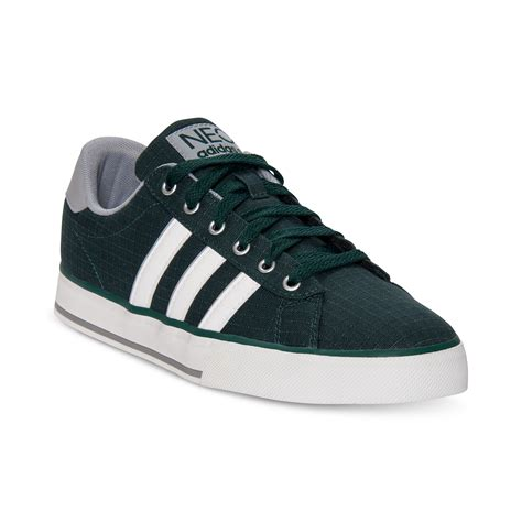 adidas se daily vulc casual sneakers in green for black white lyst