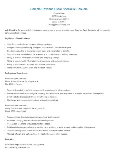 Revenue Specialist Sle Resume by Resume Sle For Driver Operator Resume Description Exle Template Great Sle