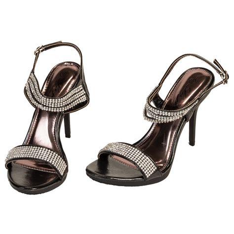 rhinestone sandal heels s rhinestone open toe high heels