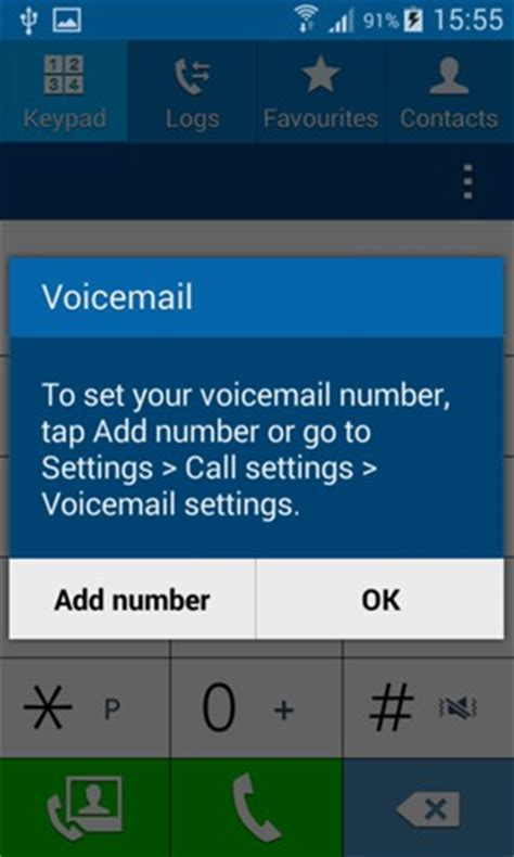 how to set up voicemail on android access voicemail samsung galaxy prime android 4 4 device guides