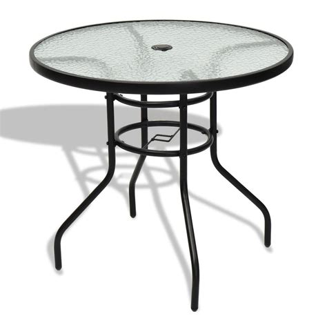 Tempered Glass Patio Table by 31 5 Quot Patio Tempered Glass Steel Frame Table