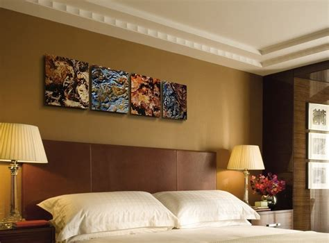 earth abstract painting modern metal wall earth tone colors ebay