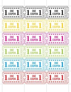 printable reward ticket template carnival tickets ticket carnivals and in the classroom