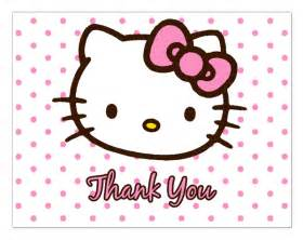 hello kitty baby shower thank you cards