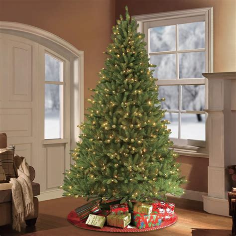 hudson valley christmas trees artificial 7 5 ft evergreen set artificial tree with 550 color choice led lights w 2248