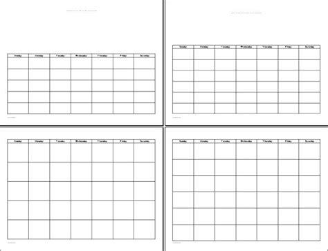 printable undated calendar template printable undated calendars printables pinterest