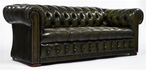 Green Leather Vintage Chesterfield Sofa For Sale At 1stdibs Green Chesterfield Sofa For Sale