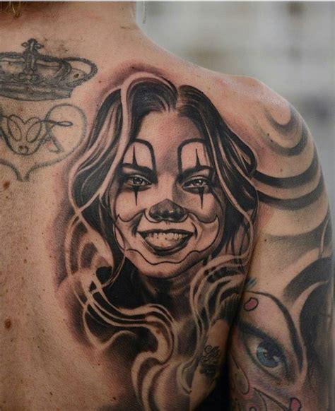 clown girl tattoo clown by danielrochatat2 mexstyletats