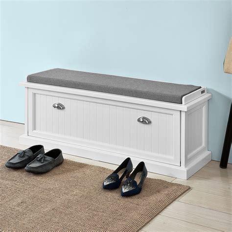 shoe storage bench with padded seat sobuy 174 padded hallway shoe storage bench entryway seat