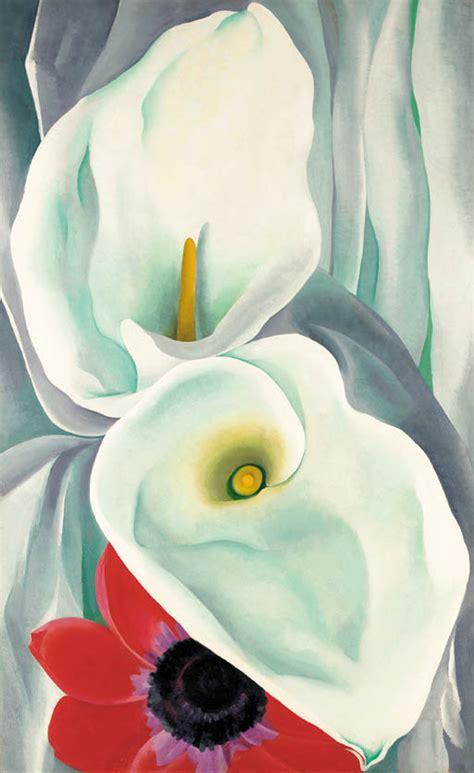 georgia okeeffe 1887 1986 flowers 0760723265 georgia o keeffe 1887 1986 calla lillies with red anenome christie s