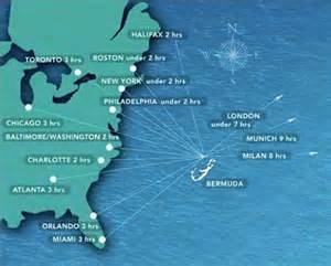 map of eastern us and bermuda where is bermuda located in relation to the us