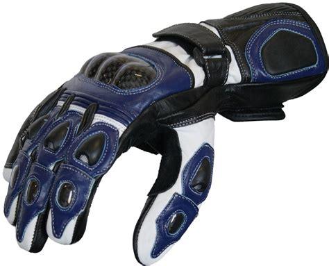Motorradhandschuhe Wei motorradhandschuhe motorrad biker lederhandschuhe blau wei 223
