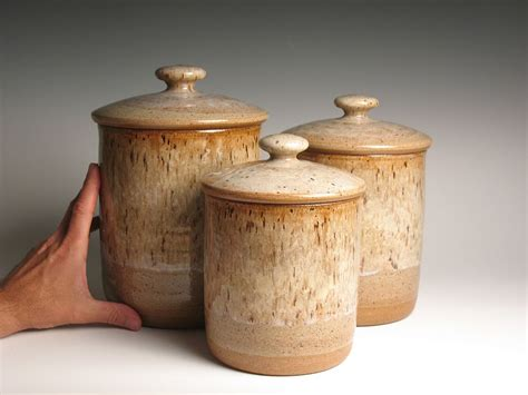 pottery kitchen canister sets ceramic canisters guide regarding kitchen plan 13