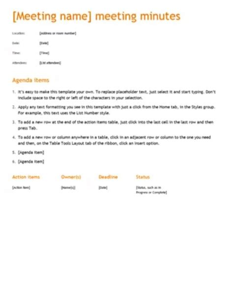 recording meeting minutes template what is the correct format for recording a motion in