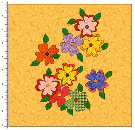 Free Applique Quilt Patterns Flowers by Free Applique Flower Quilt Patterns Appliq Patterns