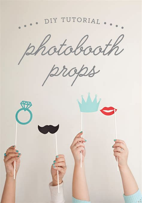 diy free learn how to make your own photo booth stick props