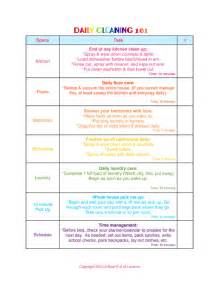 Daycare Cleaning Checklist Templates by Daily Cleaning 101 Step 4 Quot The Bathroom Quot A Bowl