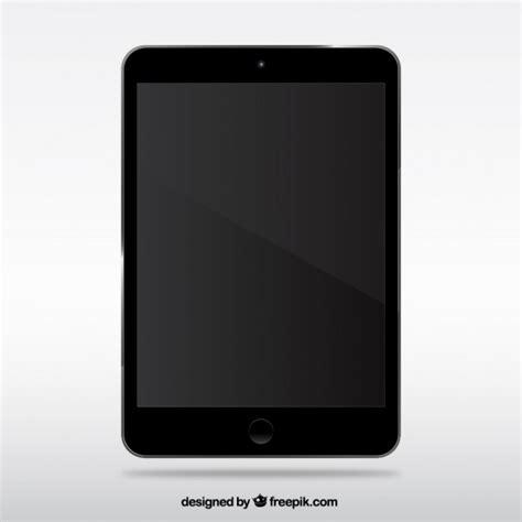 black ipad vector
