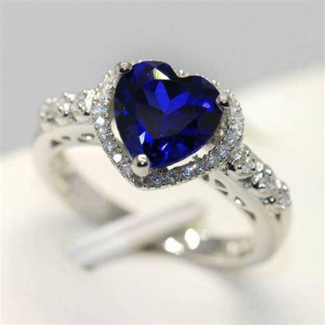 jewels heart jewelry blue heart shaped ring blue