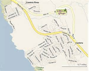 cambria california map directions and reservations