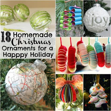 free christmas decorations to make 18 ornaments for a happy allfreeholidaycrafts