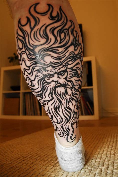 greek tribal tattoo leg images designs