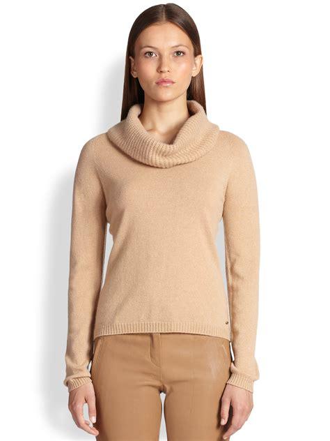 Cowl Neck Sweater escada cowl neck sweater in brown lyst