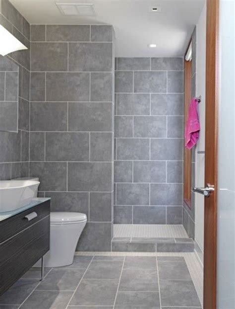 Grey Bathroom Tile Floor - 37 light gray bathroom floor tile ideas and pictures